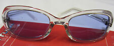 Scott Sigma Sunglasses Clear Frame Coral Blue Lens Made In USA NEW