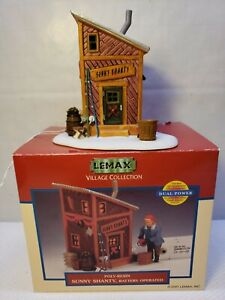 """VINTAGE RARE 2001 LEMAX """"SUNNY SHANTY"""" PORCELAIN LIGHTED ACCESSORY"""