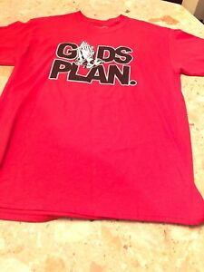"""God's Plan"" RED T-Shirt Men's Size L Drake""s Quotable"