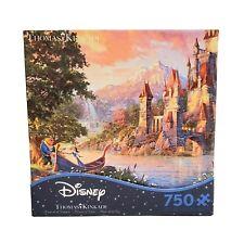 "Disney Beauty and the Beast II Thomas Kinkade 750 Piece Puzzle 24"" x 18"" Ages 3+"