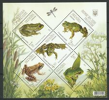 Ukraine 2011 Fauna Frogs MNH Block