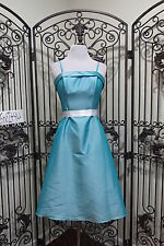 L71,2,3,A)  DA VINCI 1015 SZ 14, 10, 8, 6 AQUA COCKTAIL BRIDESMAID PARTY DRESS