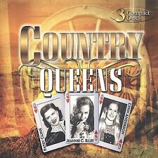 Country Queens 3 CD set PATSY CLINE, JEANNIE C RILEY, LYNN ANDERSON 10 songs ea.