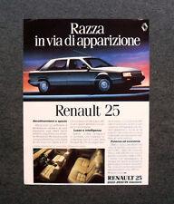 I900- Advertising Pubblicità - 1984 - RENAULT 25