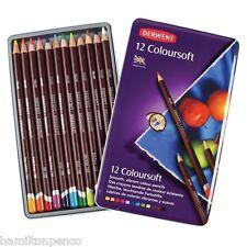 DERWENT COLOURSOFT TIN of 12 smooth, vibrant colour pencils
