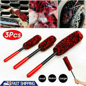 3PCS/set Wheel Woolies Luxury Super Plush Soft Alloy Wheel Cleaning Brush Kit uk