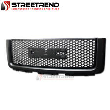 For 2007-2013 GMC Sierra 1500 Round Mesh Front Bumper Grille Grill Guard - Black