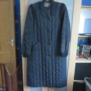 Aquascutum Navy Blue Showerproof Ladies Coat size Large