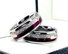 Meteorite Ring, Purple Agate Ring, Mens Wedding Bands, Women Ring, Anniversary