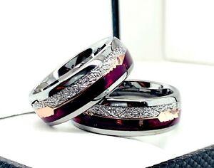 Tungsten Carbide Women or Mens Wedding Engagement Ring Band Set Zirconia M16