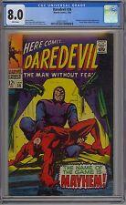 Daredevil #36 CGC 8.0 VF Wp Marvel Comics 1968 Stan Lee Story Gene Colan Art