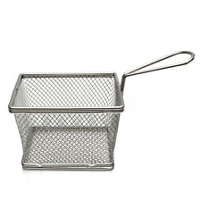 1PC Rectangular Stainless Fry Basket Chips Net French Fries Food Fryer Serving