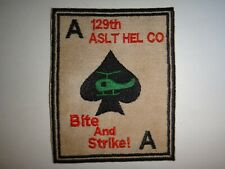 Vietnam War US Army 129th Assault Helicopter Company BITE AND STRIKE Patch