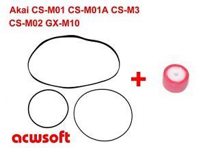 Riemen Belts / Bandandruckrolle Pinch Roller Akai CS-M01(A) CS-M3 CS-M02 GX-M10