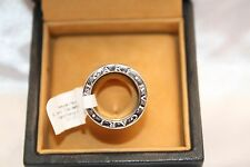 Magnificent Brand New 18K White Gold Bvlgari Wedding Band Size 4.5 With Box'S