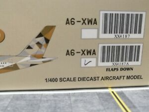 """Etihad Airways Airbus A350-1000 A6-XWA """"FLAPS DOWN"""" 1/400 by JC Wings. BRAND NEW"""