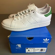 ADIDAS STAN SMITH MENS US 8 WHITE/GREEN Authentic New In Box M20324 SUPERSTAR