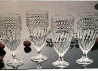 Shannon Crystal by Godinger Ice Tea Water Glasses Goblets Symphony Set / 4 New