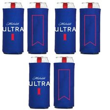 6 Authentic Live Michelob Ultra Slim Can Beer Koozie Coozie Coolie Cooler Golf