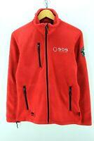 Helly Hansen Men's Fleece Jacket Size S Red Long Sleeve full zip Sweater EF2406