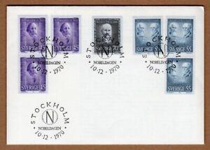 Sweden 1970 nobel prize FDC