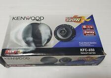 """Kenwood - 6-1/2"""" 3-Way Car Speakers KFC-650 Pair"""