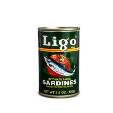 Ligo Sardinen in Tomatensauce 155g Sardines Philippinen Konserve Fisch grün