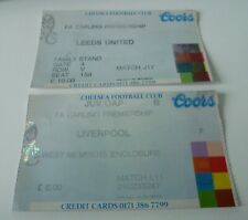 1990's Chelsea Tickets Home v Liverpool and Leeds
