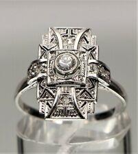 Art Deco geometrischer Brillant Ring 585 Weißgold - 20903 –