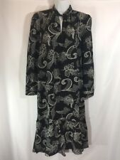 Joe Fresh Black & White Floral Boho Mullet Dress Sz S/P Skirt Detail Nwt