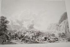EGYPTE NAPOLEON COMBAT DE NAZARETH GRAVURE 1838 VERSAILLES R1020 IN FOLIO