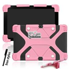 """Bumper Silicone Stand Cover Case Fit Various 10"""" HP Tablet + Stylus"""