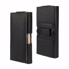 Universal Belt Holster Magnetic Flip Leather Pouch Case Cover for Mobile Phone