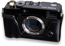 Gariz XS-CHXP1BK Leather Camera Metal Half Case for Fujifilm X-Pro1 BLACK