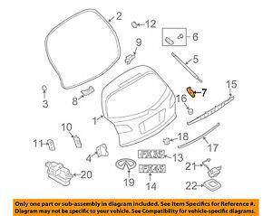 Infiniti NISSAN OEM FX45 Liftgate Tailgate Hatch-Stay Bracket Right 90458CG000