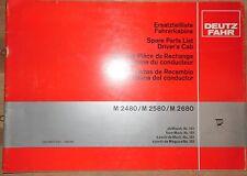 Deutz Fahr Ersatzteilliste Fahrerkabine M 2480 , M 2580 , M 2680