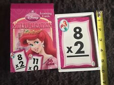 New In Box Disney Princess Learning Multiplication 36 Flash Cards Math Fun