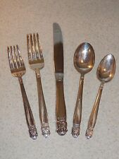 INTERNATIONAL SILVERPLATE FLATWARE DANISH PRINCESS 5 PIECE PLACE SETTING