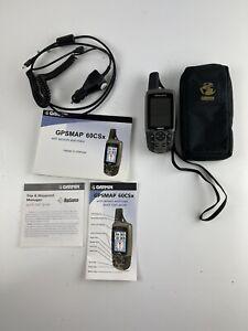 Garmin 60CSx  Handheld GPS Bundle w/Case Paperwork And 2 Chargers