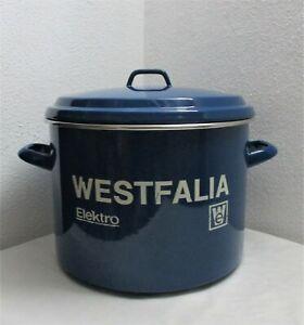 Westfalia Elektro Einkochtopf Einkocher Sterilisiertopf 26 L blau Emaille