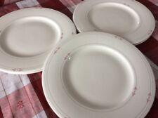 4er Set Suppenteller 23cm Porzellan beige taupe Platinrand Bone China