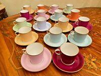 Vintage Danish Royal Copenhagen 17 Cups 17 Saucers Coffee Set First Wave/Sort