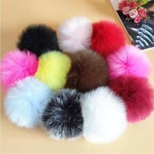 DIY Faux Fur Pom Pom Ball Fur Ball Pom Accessory for Keychain or Beanie Hat