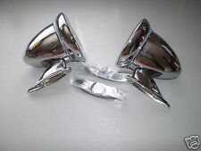 CLASSIC MINI WING MIRROR CHROME BULLET RACING PAIR AUSTIN MORRIS COOPER BMC 7A5