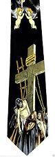 Crucifixion Of Jesus Mens Neck Tie Religious Necktie Christian Easter Gift New