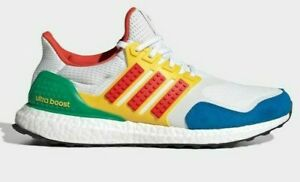 adidas ULTRABOOST DNA × LEGO COLORS FZ3983 White Red Shock Blue