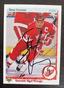 Steve Yzerman - Autographed Detroit Red Wings Hand Signed Card HOF