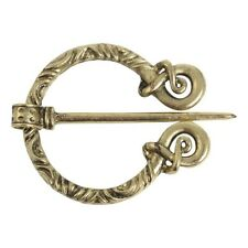 NEW Viking / CELTIC  Penannular Brooch cloak pin Gold colour LARP re enactment