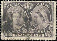 1897 Used Canada 8c F Scott #56 Diamond Jubilee Stamp
