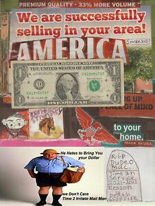 2013 $1 & it's Time 2 Irritate Mail Man make him waste gas 2 bring u One Dollar.